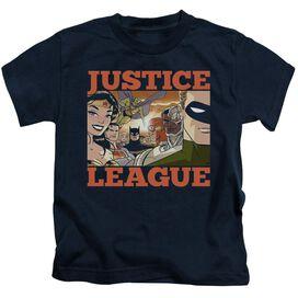 Jla New Dawn Group Short Sleeve Juvenile T-Shirt