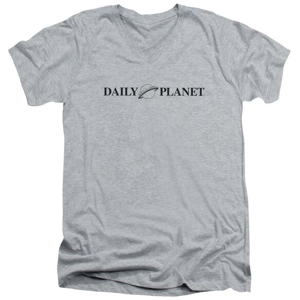 Superman Daily Planet Logo Short Sleeve Adult V Neck Athletic T-Shirt