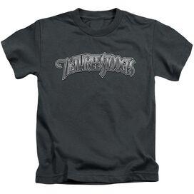 THREE STOOGES METALLIC LOGO - S/S JUVENILE 18/1 - CHARCOAL - T-Shirt