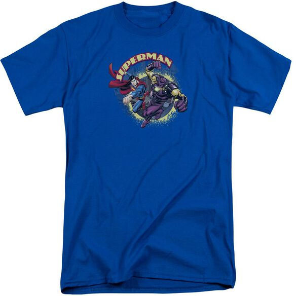 Superman Superman Vs Mongol Short Sleeve Adult Tall Royal T-Shirt