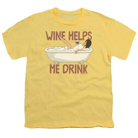 Bobs Burgers Wine Helps Short Sleeve Youth T-Shirt