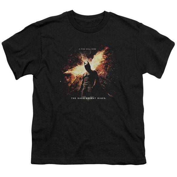 Dark Knight Rises Fire Will Rise Short Sleeve Youth T-Shirt