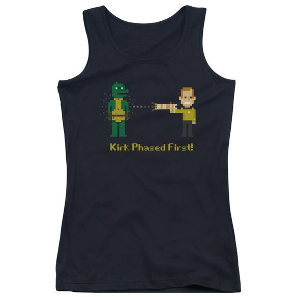 Star Trek Kirk Phased First Juniors Tank Top