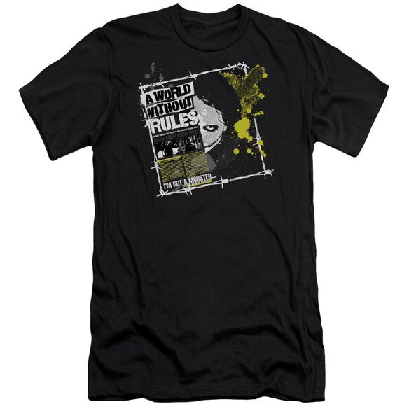 Dark Knight World Without Rules Short Sleeve Adult T-Shirt