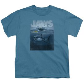 Jaws Silhouette Short Sleeve Youth T-Shirt