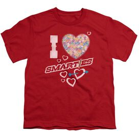 Smarties I Heart Smarties Short Sleeve Youth T-Shirt