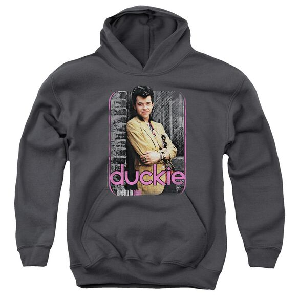 Pretty In Pink Just Duckie Youth Pull Over Hoodie