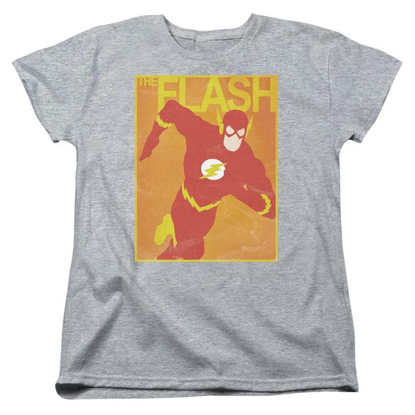 Jla Simple Flash Poster Short Sleeve Womens Tee Athletic T-Shirt