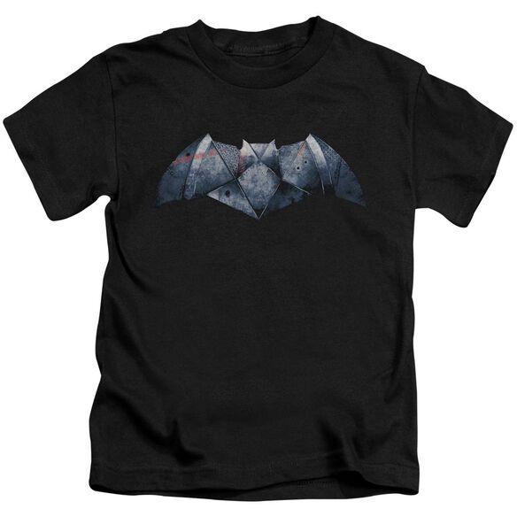 Batman V Superman Plated Bat Logo Short Sleeve Juvenile T-Shirt