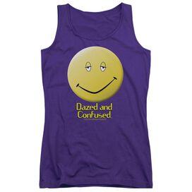 Dazed And Confused Dazed Smile - Juniors Tank Top - Purple