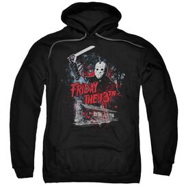 Friday The 13 Th Cabin Adult Pull Over Hoodie