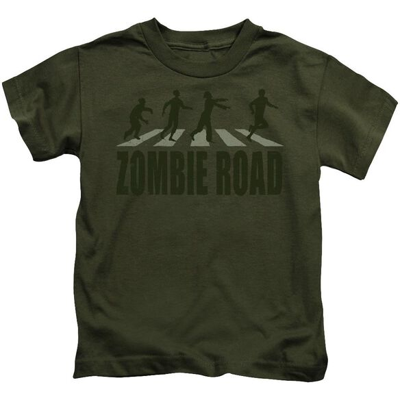 Zombie Road Short Sleeve Juvenile Military Green Md T-Shirt