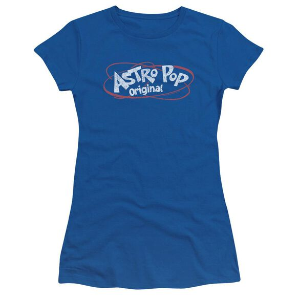 Astro Pop Vintage Logo Short Sleeve Junior Sheer Royal T-Shirt
