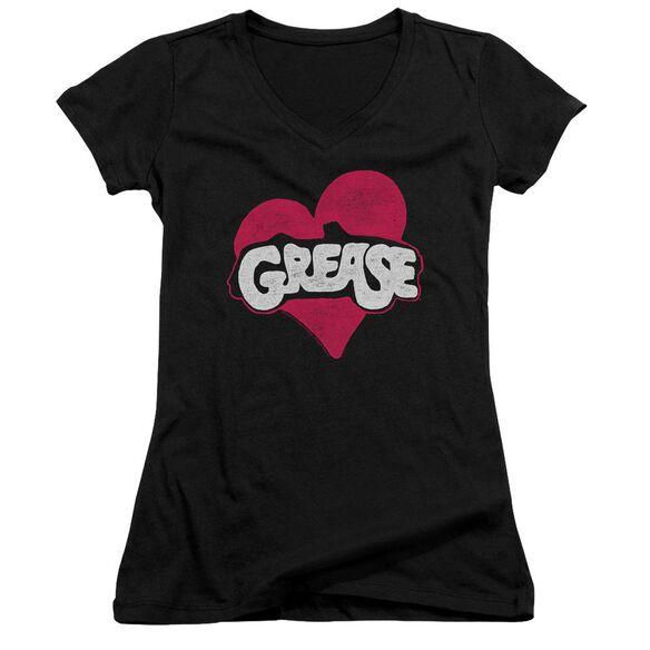 Grease Heart Junior V Neck T-Shirt