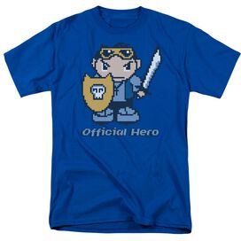 Official Hero Short Sleeve Adult Royal Blue T-Shirt