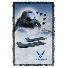 Air Force Pilot Woven Throw
