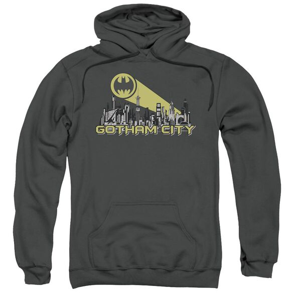 Batman Gotham Skyline Adult Pull Over Hoodie