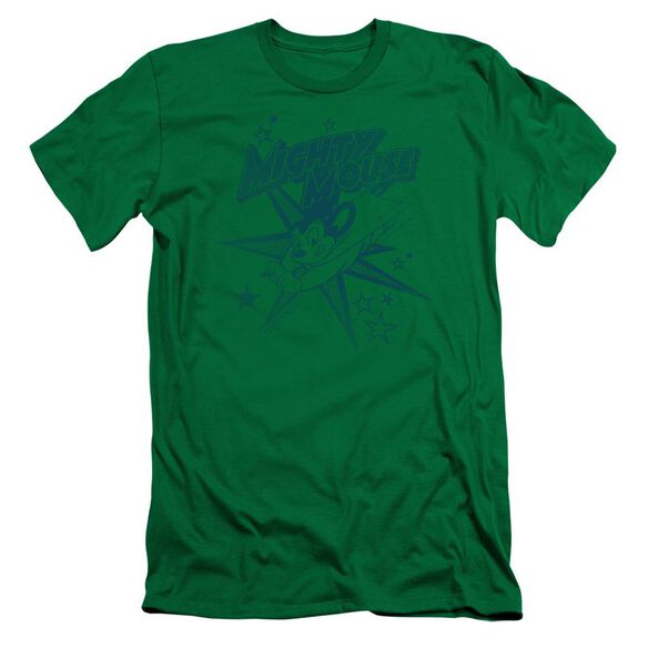 MIGHTY MOUSE MIGHTY MOUSE - S/S ADULT 30/1 - KELLY GREEN T-Shirt