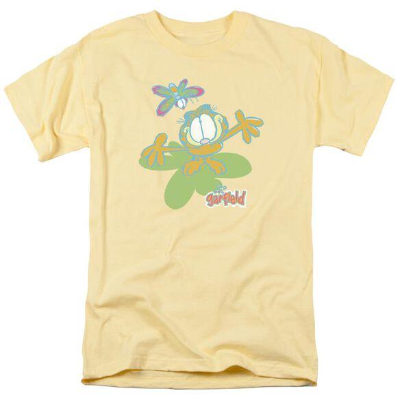 Garfield Butterfly Short Sleeve Adult Banana T-Shirt