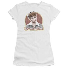 I Love Lucy Current Mood Short Sleeve Junior Sheer T-Shirt