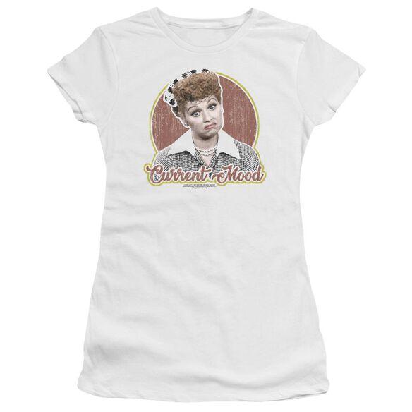 I Love Lucy Current Mood Short Sleeve Junior Sheer T-Shirt