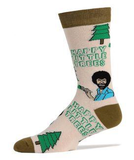 Bob Ross Happy Little Trees Crew Socks [1 pair]