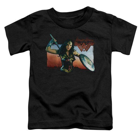 Wonder Woman Movie Warrior Woman Short Sleeve Toddler Tee Black T-Shirt