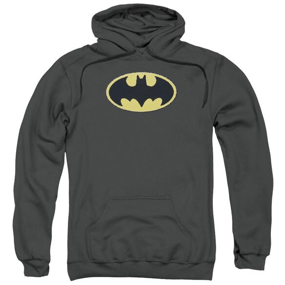 Batman Batman Chenille Emblem Adult Pull Over Hoodie