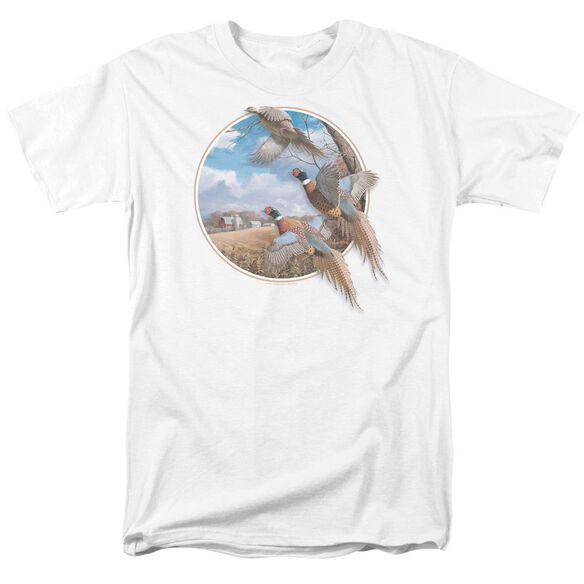 Wildlife October Memories Pheasants Short Sleeve Adult T-Shirt