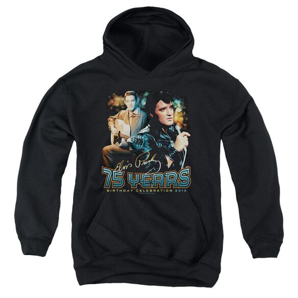 Elvis Presley 75 Years Youth Pull Over Hoodie