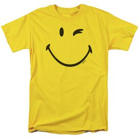Smiley World Big Wink Short Sleeve Adult Yellow T-Shirt