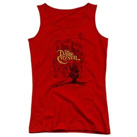Dark Crystal Poster Lines Juniors Tank Top