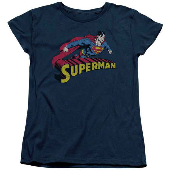 Superman Flying Over Short Sleeve Womens Tee T-Shirt