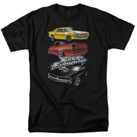 Fast And The Furious Muscle Car Splatter Short Sleeve Adult T-Shirt