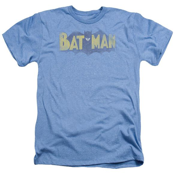 Batman Vintage Logo Adult Heather Light