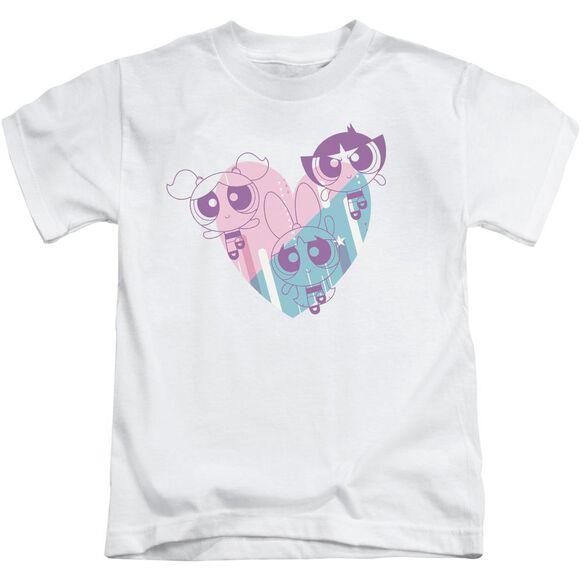 Powerpuff Girls Powerpuff Heart Short Sleeve Juvenile T-Shirt