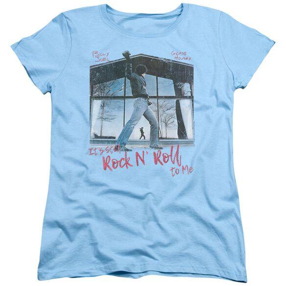 Billy Joel Glass Houses Short Sleeve Womens Tee Light T-Shirt