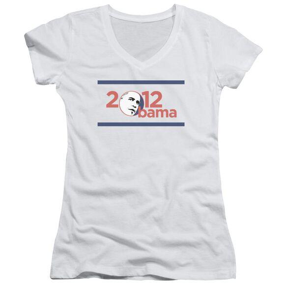 Obama 2012 Junior V Neck T-Shirt