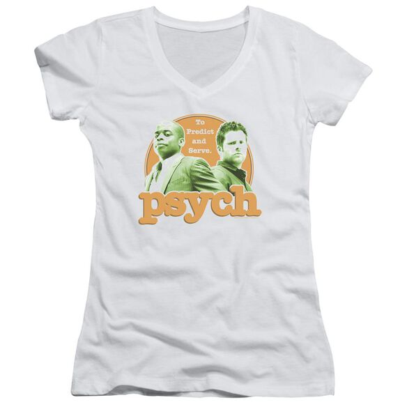 Psych Predictable Junior V Neck T-Shirt