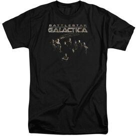 BATTLESTAR GALACTICA BATTLE CAST-S/S ADULT T-Shirt