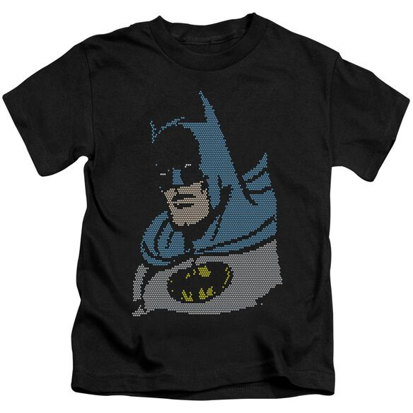 Dc Lite Brite Batman Short Sleeve Juvenile Black T-Shirt