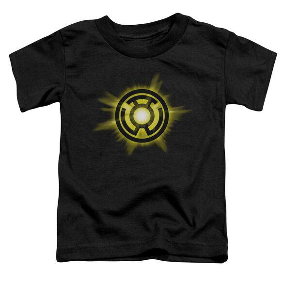 Green Lantern Yellow Glow Short Sleeve Toddler Tee Black Lg T-Shirt