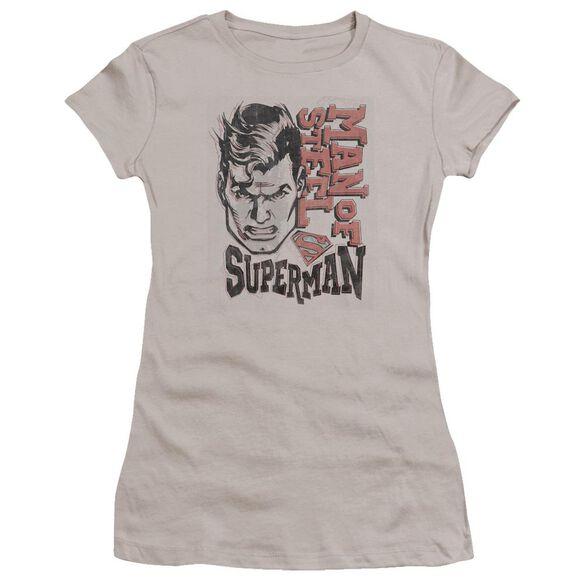 Superman Retro Lines Premium Bella Junior Sheer Jersey