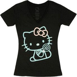 Hello Kitty Pastel Outline Juniors T-Shirt