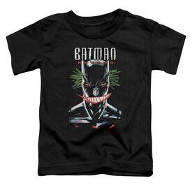 Batman Beyond Defaced Short Sleeve Toddler Tee Black T-Shirt