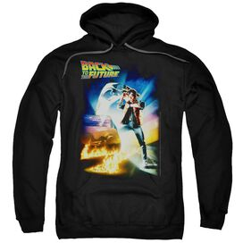 BACK TO THE FUTURE POSTER - ADULT PULL-OVER HOODIE - Black