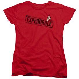 Star Trek Expendable Short Sleeve Womens Tee T-Shirt