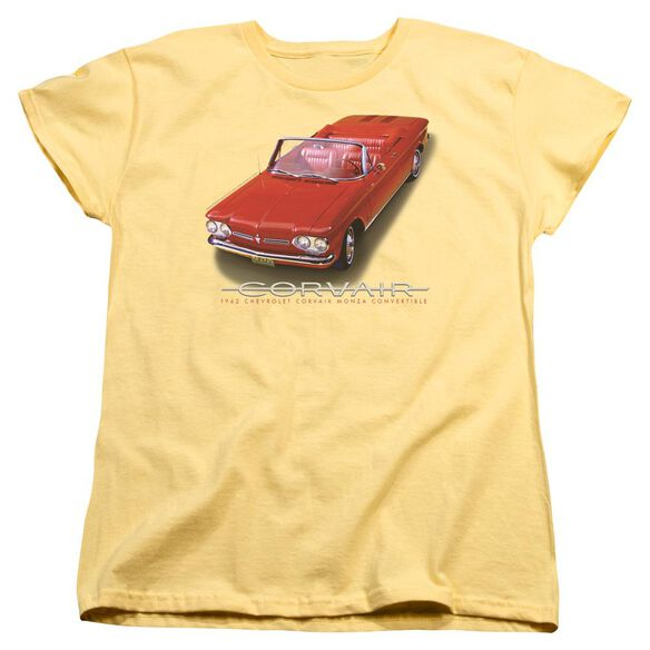 Chevrolet 62 Corvair Convertible Short Sleeve Womens Tee T-Shirt