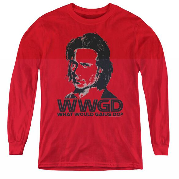 Bsg Wwgd - Youth Long Sleeve Tee - Red