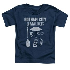 Gotham Survival Tools Short Sleeve Toddler Tee Navy T-Shirt